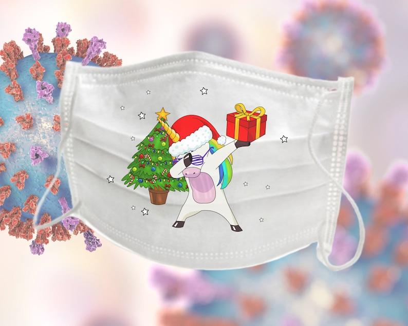 Christmas Holiday Face Mask  Dabbing Santa Claus Design  image 0