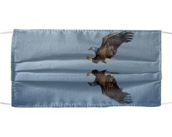 Bald Eagle Design Mask - July 4 Patriotic Mask - American US Animal Design - All Over Print - Reusable Washable - One Size Fits All
