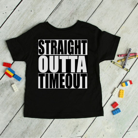 6c9c39427 Straight Outta Timeout Toddlers Tee Funny Kids Mischievous | Etsy
