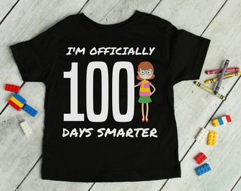 100th Day of School Shirt For Kids - I'm Officially One Hundred Days Smarter Tee