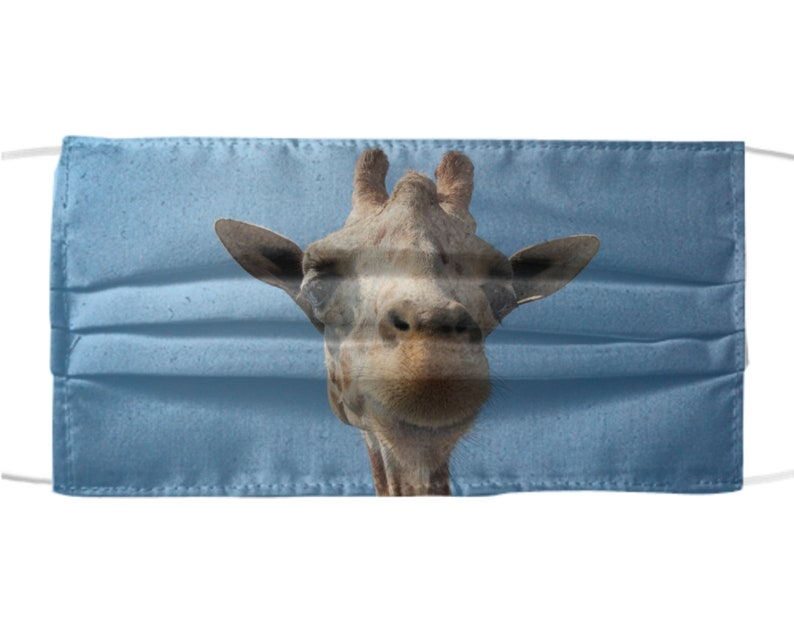 Funny Giraffe Face Mask  Cute Silly Farm Animals Designs  image 0