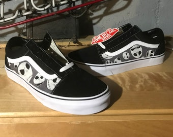 Nightmare Before Christmas Disney Shoes Tim Burton Custom Canvas Vans Old Skool