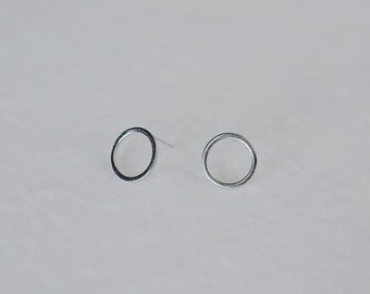 Circle, 925 silver, ear stud,SINGLE