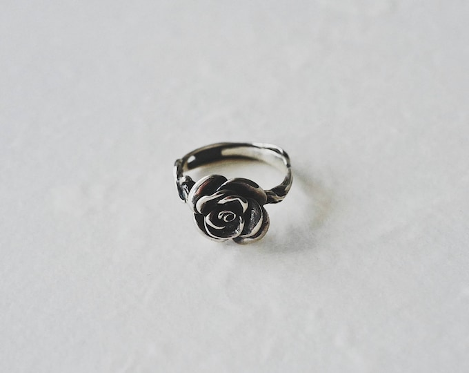 Rose,cirrus , 925 silver,ring