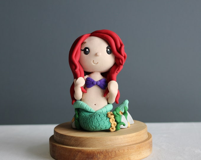 Little Mermaid, handmade clay model, action figure (Without Base)
