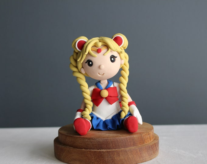 Sailor Moon, handmade clay model, action figure (Without Base)