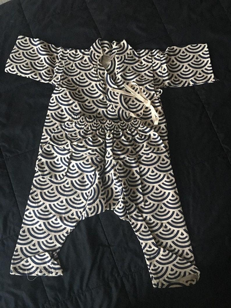 Japanese Kimono Jinbei Children/Imperial Kamon CREST/Japanese image 0