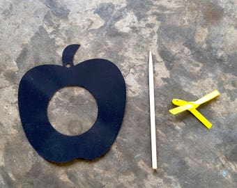 DIY Apple Scratch Art Photoframe