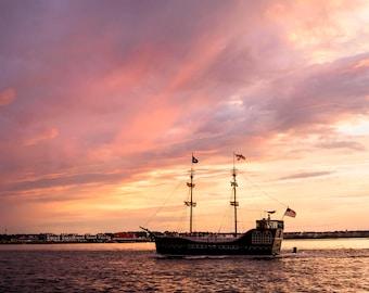 Ocean City, Maryland  at Sunset Photo Print