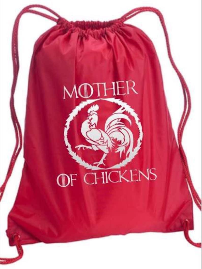 Mother of chickens fandom drawstring backpack GOT inspired bag