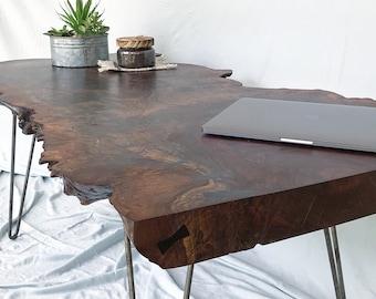 CUSTOM ORDER Black Walnut Slab Wood Table