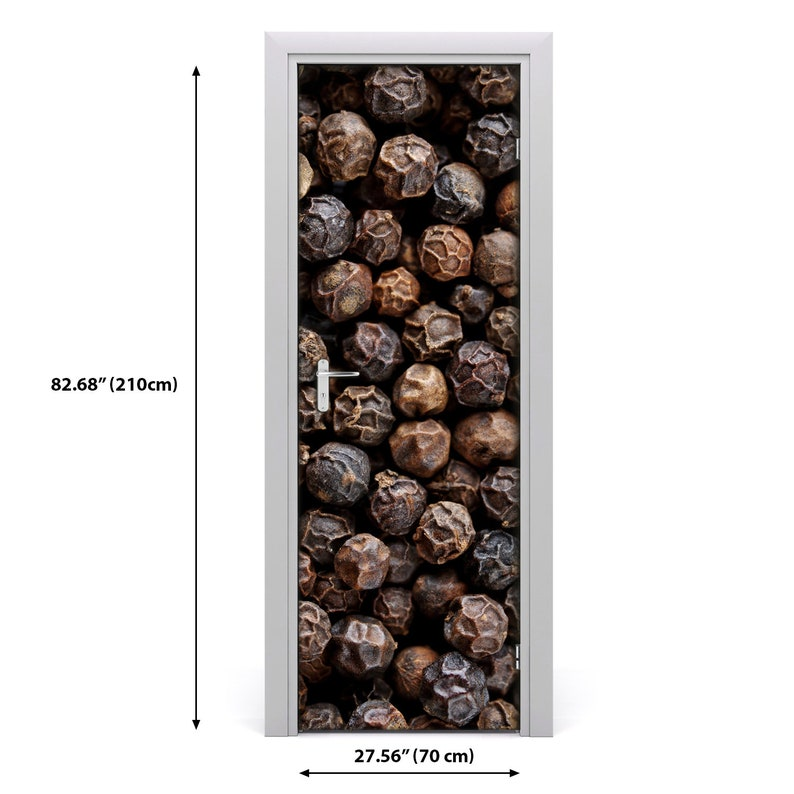 3D Home Art Door Self Adhesive Removable Sticker Food Grains of pepper  DS/_709