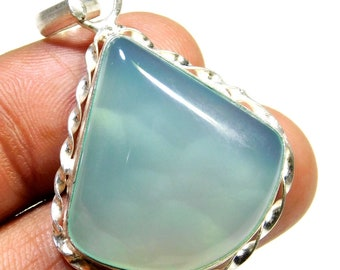 Sky Blue  .925 Sterling Silver Overlay Pendent Good Making And Good Design Size 46x29x5MM Gemstone