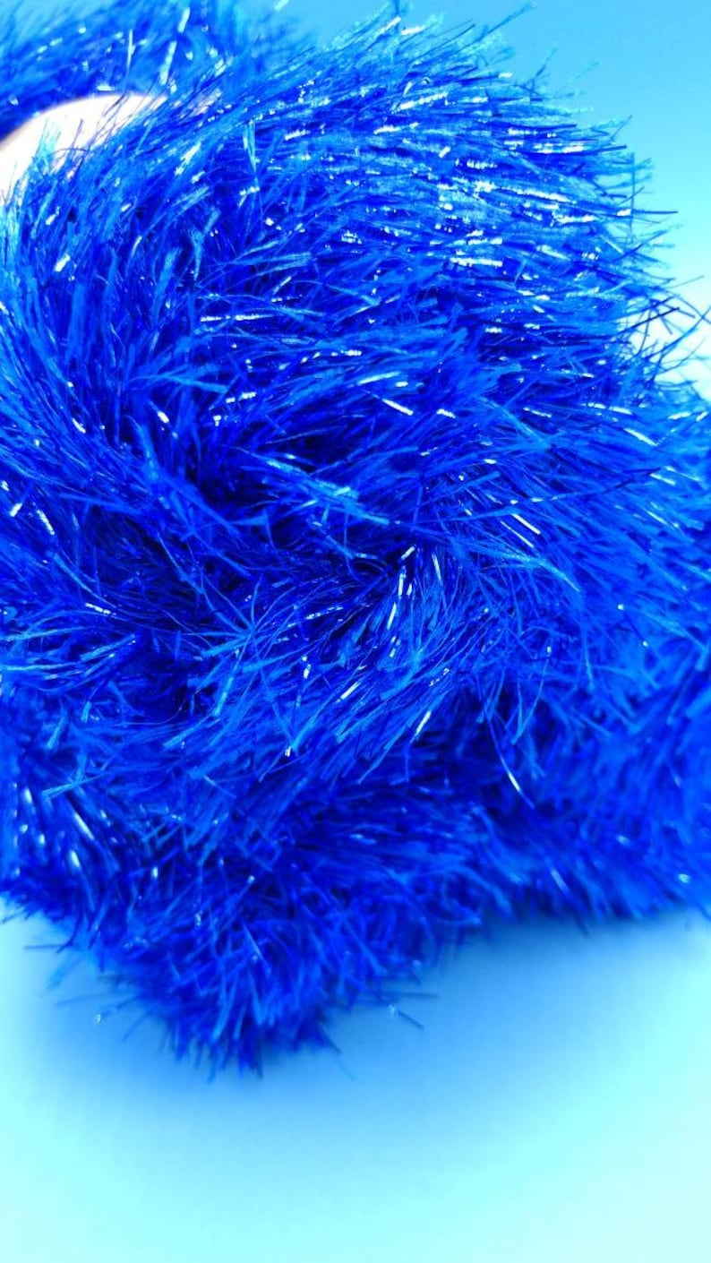 Twilight Blue >> Twilight Blue Metallic Glittery Fur Yarn Is Made With Our Etsy