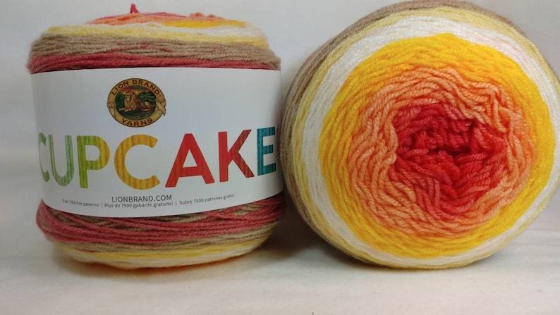Sunny Day LionBrand Cupcake Yarn 150g Cake wool knitting crochet mandala DK