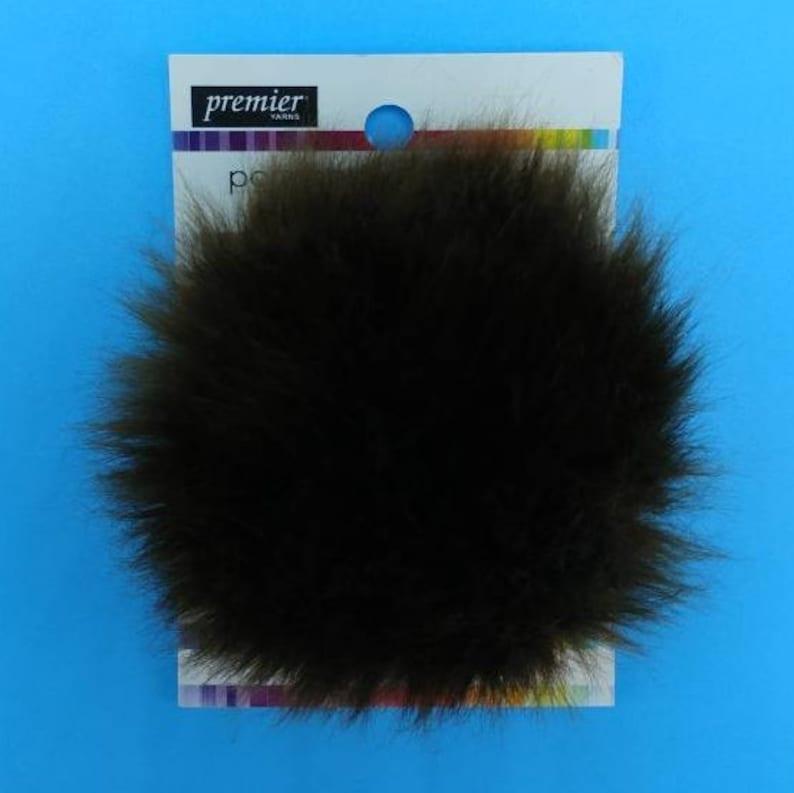 f41f155c2b74c BEAR Brown Faux Fur Pom Poms by Premier Yarns