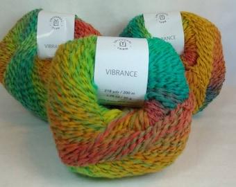 RAINBOW SHERBET Colorway of Universal Vibrance Balls- #1 Super Fine  1.75oz/50g - 218 Yds/200m - 73%/24/3 Super Wash Wool/Nylon/Poly