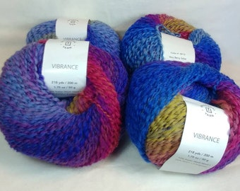VERY BERRY SALSA Colorway of Universal Vibrance Balls- #1 Super Fine  1.75oz/50g - 218 Yds/200m - 73%/24/3 Super Wash Wool/Nylon/Poly