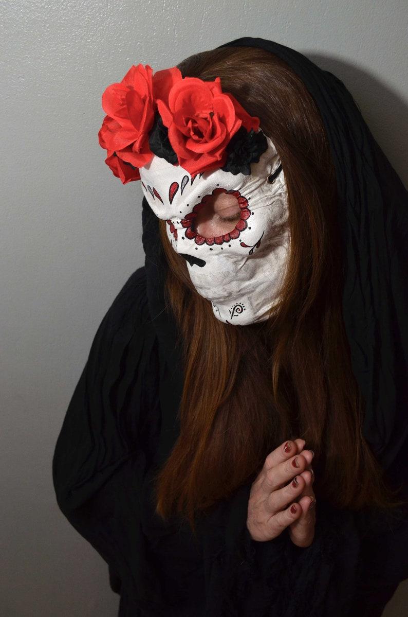 SANTA MUERTE Mask \u2013 Day of the Dead Mask \u2013 Dia de los Muertos Mascara Le jour des morts masque \u2013 Mexique