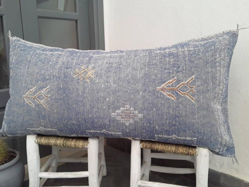 Large Cactus Silk Pillow cover handmade Pillow |Pillow Case ; pillow case 54100 cm handmade sabra pillow Moroccan Pillow Sabra pillow