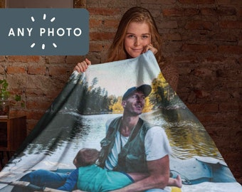 Custom Photo Blanket | Personalized With Any Photo | Photo Gift, Birthday Gift, Christmas, Personal Gift, Family, Pet Blanket, Face blanket