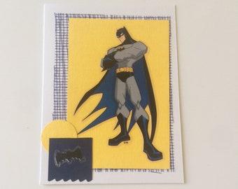 Batman Greeting Card Superhero Cartoon Card