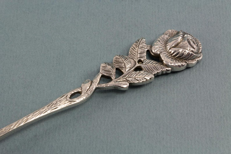 Cream spoon silver plated vintage spoon with roses