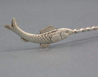 Sardine lifter with Fish, WMF, lifter, fish cutlery, vintage, silver plated