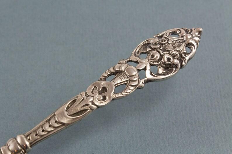 Fourche, années 800, Real Silver, Antipasti, Pain, Argent, Hildesheimer Rose, Chocolats, Confiserie, Art Nouveau, Vintage Cutlery, Vintage