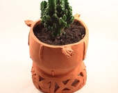 Medium Terracotta Ceramic Planter, Plant pot