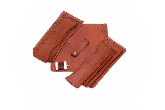 Leather Wallet Travel Leather Diy Kit Wallet Diy Kit Leather Hobby Kit Leather Blanks For A Wallet Leather Blanks Set