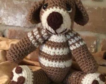 Henry, the  amigurumi puppy dog