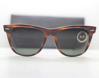 8140715b4 RayBan Wayfarer sunglasses authentic B&L new old stock Originali Occhiali  Sonnenbrille Bausch Lomb lunettes gafas USA 80s