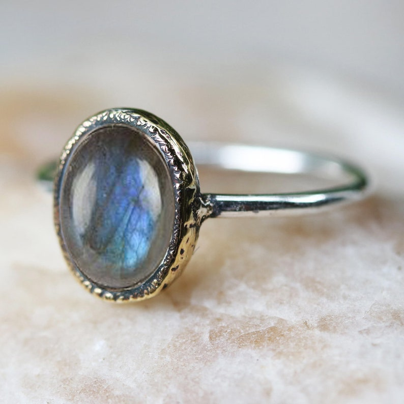 Labradorite Silver Handmade Ring 925 Solid Sterling Silver jewelry size 3-13 US