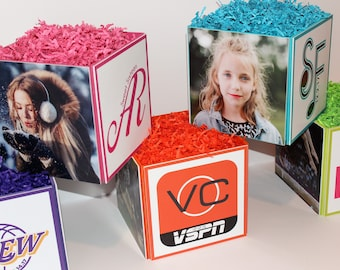 Photo Cube Centerpieces for Sweet Sixteen, Quinceanera, Mitzvah & Birthday Party Celebrations and More