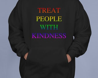 b4ca0373 Treat People With Kindness Rainbow unisex Pullover Hoodie