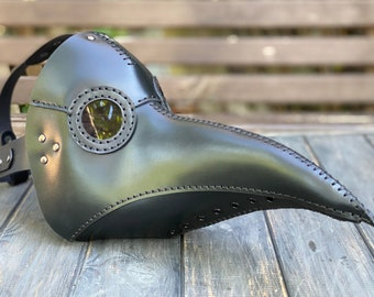 Plague Doctor Mask - Leather Plague Doctor Mask - Plague Doctor Costume - Bubonic Plague Mask