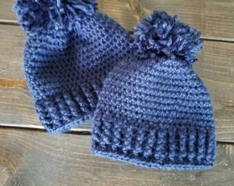 103516569c8cba Big pom pom baby hat | Etsy