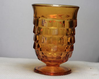 Indiana glass amber glass juice gobler