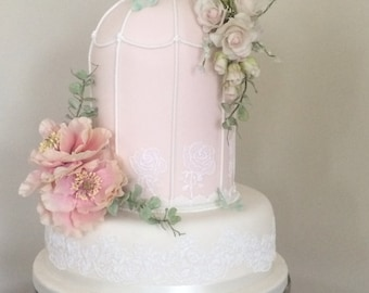 Two Cold porcelain sprays with Peonies and Roses,realistic flowers handcrafted by Bloom&Bakes