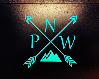 PNW decal, Oregon, Washington, Oregon Decal, Washington Decal, hydroflask stickers, wall decal, Free Shipping