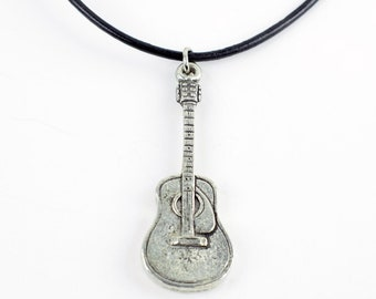 Acoustic Guitar Statement Necklace