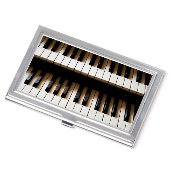 Cas De Carte Touches Piano Cartes Visite Musicien