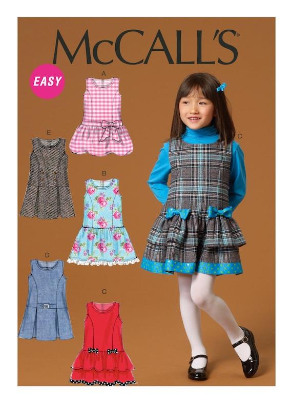 Brand New McCalls M7008 Easy PATTERN Size 2-8 Children/'s//Girls Jumpers