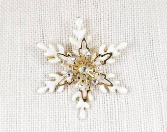 Vintage, Snowflake Brooch