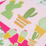 Spike Up Your Life! Cactus Print Illustrated Letter Set- children writing set- personal stationery- invitations - snail mail- cactus- cacti