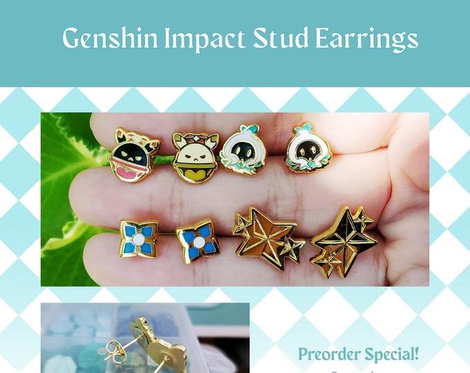 Featured listing image: PREORDER Genshin Impact Enamel Stud Earrings