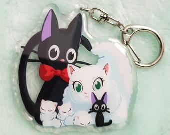 Jiji and Fam Keychain