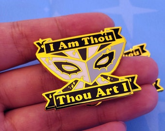 Mask of True Self Enamel Pin