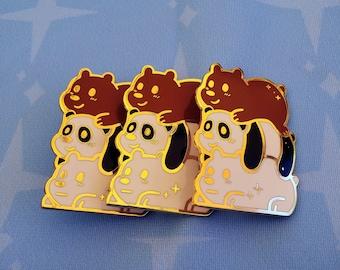 Bare Bear Pile Enamel Pin